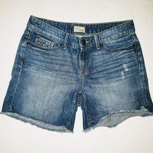Gap Denim Jean Shorts women's 4 27 distressed